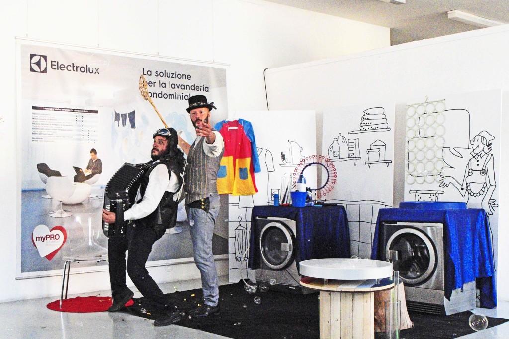 Billy Bolla nello stand di Electrolux, Experimentdays Milano 2017