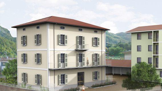 Piccolo cohousing sul lago di Lecco